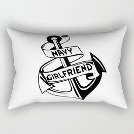 Navy Girlfriend Rectangular Pillow