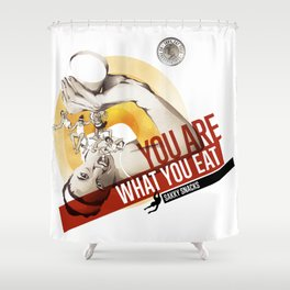 Sakky Snacks Shower Curtain