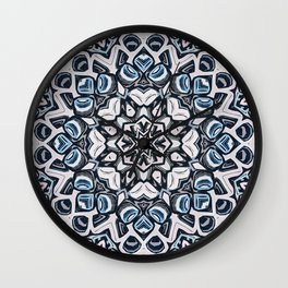Textured Kaleidoscope Wall Clock