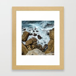 to the cliffs, to the sea Framed Art Print