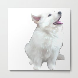 White German Shepherd Puppy Metal Print