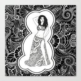 Henna Dancer  Canvas Print