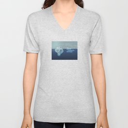 Stop climate change, save the icebergs Unisex V-Neck