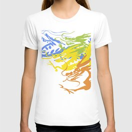 Colorful Dragon Chinese T-shirt