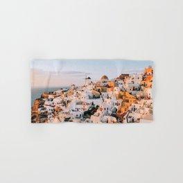 Dreaming at Dusk | Santorini, Greece Hand & Bath Towel