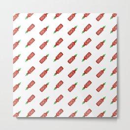 Sriracha Pattern Metal Print