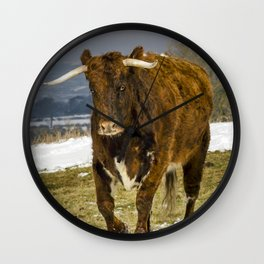 Bully The Bull On A Mission Wall Clock