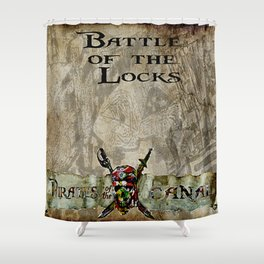 Battle of the locks bywhacky Shower Curtain