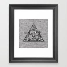 Raven On Grey Framed Art Print