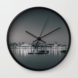 Porto in Black and White II Wall Clock