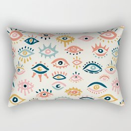 Mystic Eyes – Primary Palette Rectangular Pillow