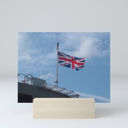 UNION JACK FLAG ON ROYAL NAVY SHIP Mini Art Print