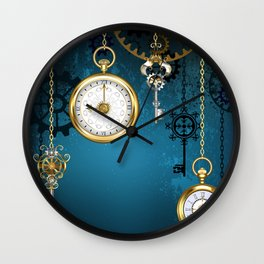 Steampunk Design with Clocks and Gears Wall Clock