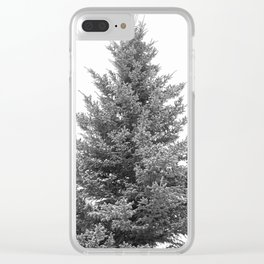 B&W White Spruce Clear iPhone Case
