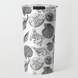 Sea and Ocean Life-Shell Pattern - Mix & Match with Simplicity of life Travel Mug