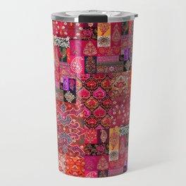 N98 - Traditional Heritage Boho Oriental Moroccan Collage Style. Travel Mug