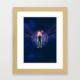 Human Light Siluette 0.2 Framed Art Print