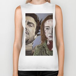 Abigail and Will 2., acrylic painting Biker Tank
