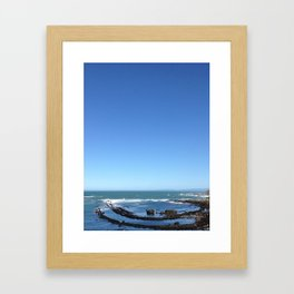 Half moon Bay, California. Framed Art Print