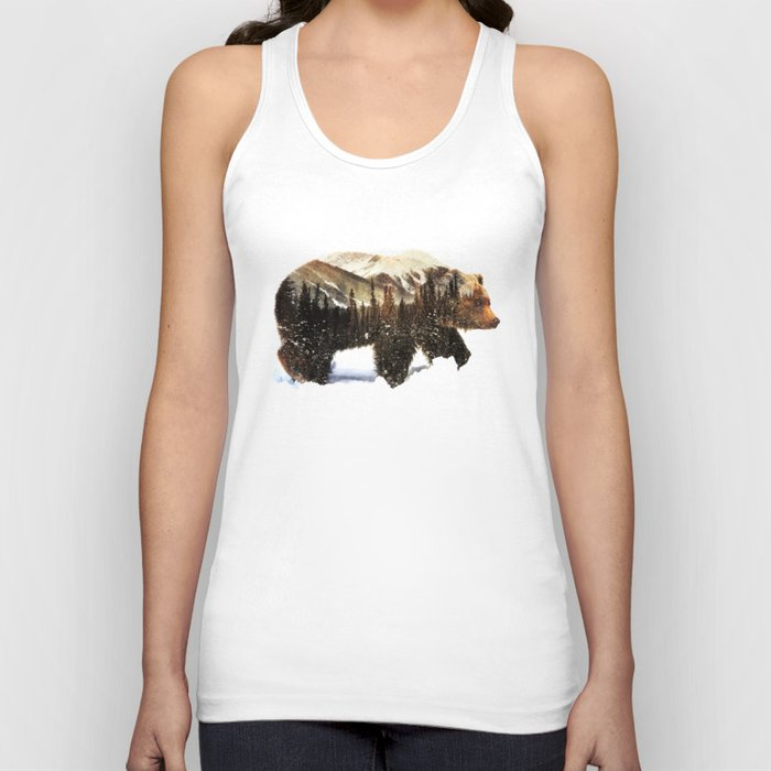 Arctic Grizzly Bear Unisex Tank Top