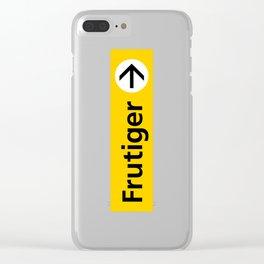 Frutiger arrow | W&L007 Clear iPhone Case