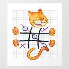 Tic Cat Toe Art Print