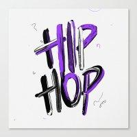 hip hop Canvas Prints featuring Hip Hop by Nobra