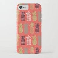 pineapples iPhone & iPod Cases featuring Pineapples by Annie Smith Designs