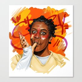 Crazy eyes Canvas Print