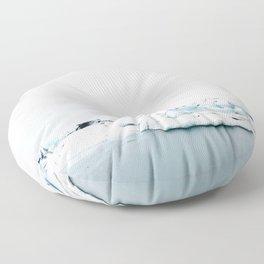 Beautiful glacier lagoon winter Floor Pillow