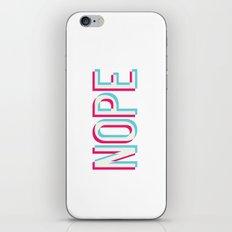 3D Nope iPhone & iPod Skin
