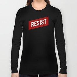 RESIST red white bold anti Trump Long Sleeve T-shirt