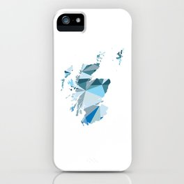 Scotland Pattern Map Art iPhone Case