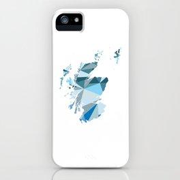 Scotland Pattern Map Art iPhone Case