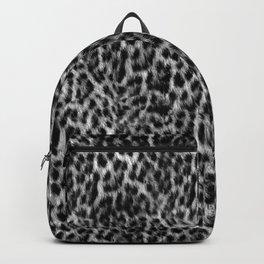 Cheetah Fur Texture - Black and White Backpack