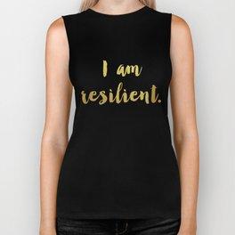 I Am Resilient Biker Tank