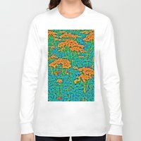 weed Long Sleeve T-shirts featuring Weed Patch by Anne Millbrooke