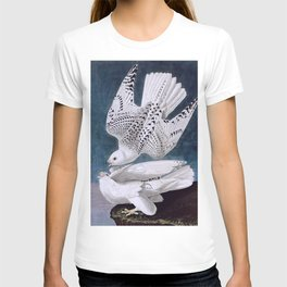 Iceland or Jer Falcon, Plate 366 of Birds of America by John James Audubon T-shirt