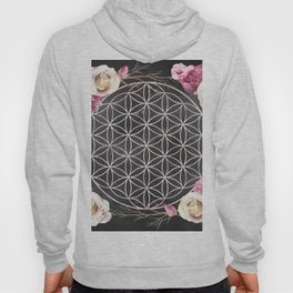 Flower of Life Rose Garden Hoody