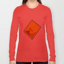 CAR IN THE SEA  Long Sleeve T-shirt