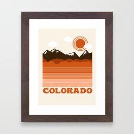 Colorado - 70s retro throwback travel state usa minimal design 1970's Framed Art Print