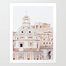 Pale Rome Art Print