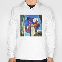 montreal Hoodies featuring Gateway To Montreal by Mathieu LaBerge