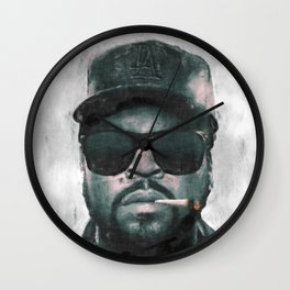 Ice Cube with joint sketch Wall Clock
