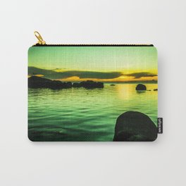 Green sunset by sea Carry-All Pouch