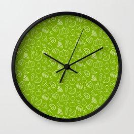 Fruits, Vegetables, Junk, Foods, Bad, Healthy, Gift Wall Clock