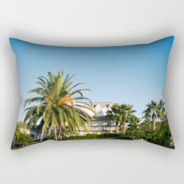 blue skies & palm trees Rectangular Pillow