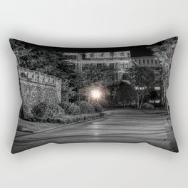Night city park, street, city lights, no people, empty (Nantong, China) (2015-4N-NCP2) Rectangular Pillow