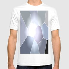 Gray Mosaic SMALL Mens Fitted Tee White