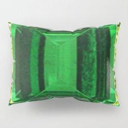 EMERALDS &  LIME GREEN PERIDOT GEMS BIRTHSTONES Pillow Sham